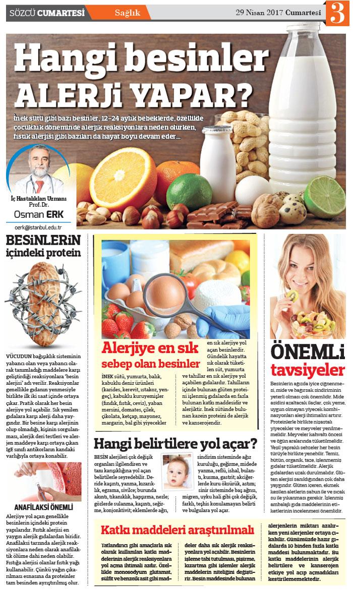 Alerjiye İyi Gelen 10 Besin