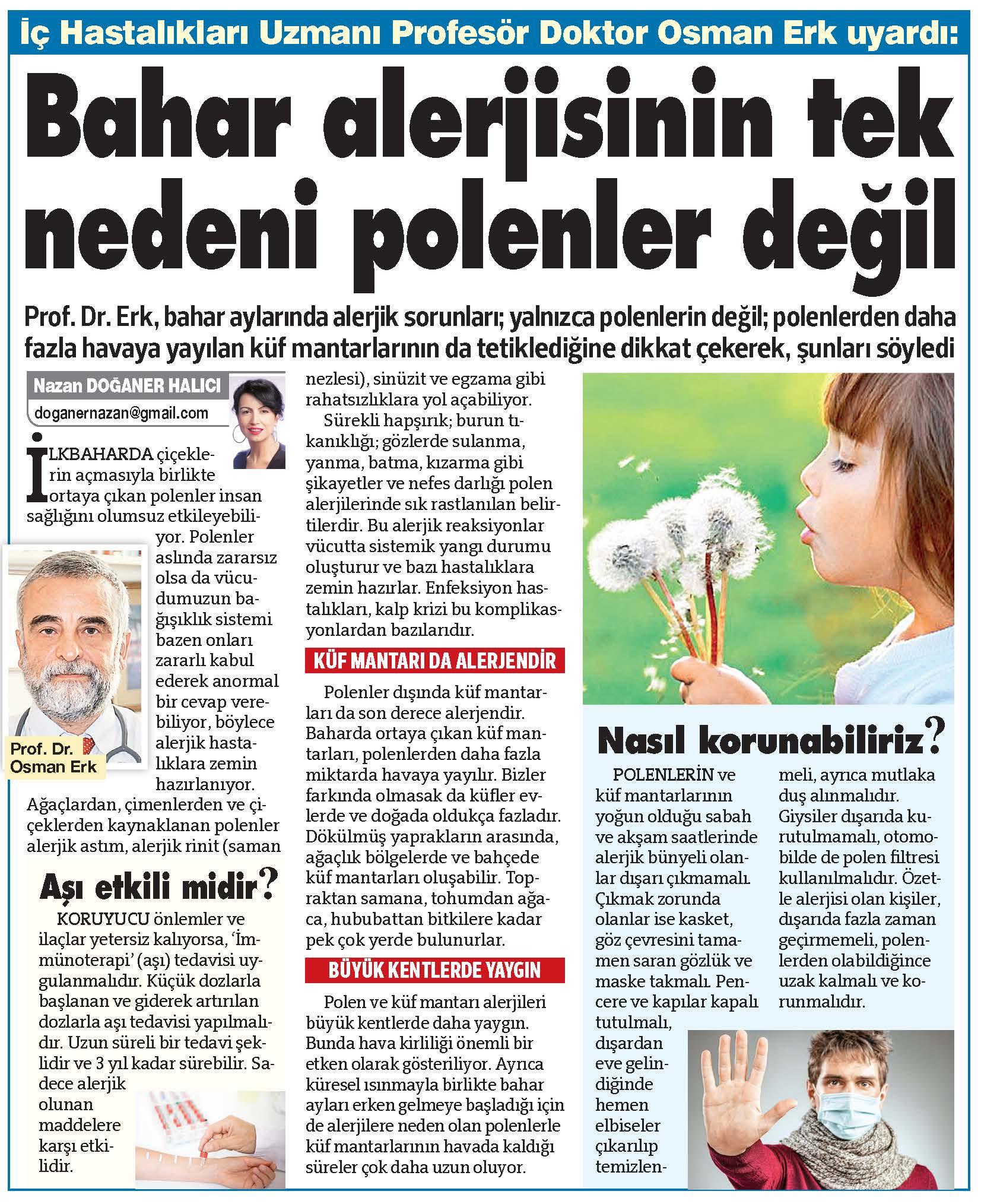 SOZCU-2019.04.14-Bahar Alerjisinin Tek Nedeni Polenler Değil